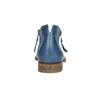 Kožené kotníčkové kozačky s perforací bata, modrá, 596-9647 - 17