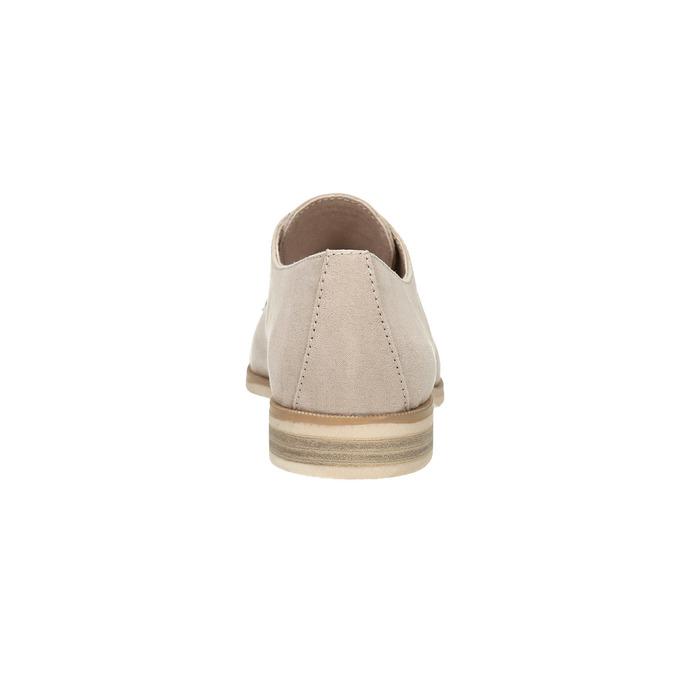 Dámské Derby polobotky bata, béžová, 529-8632 - 17