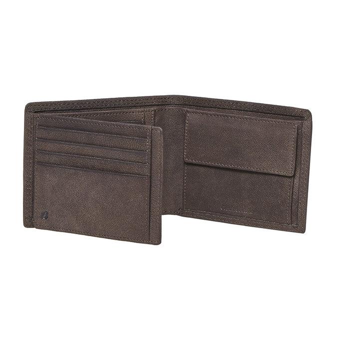 Pánská kožená peněženka bata, hnědá, 944-4129 - 17