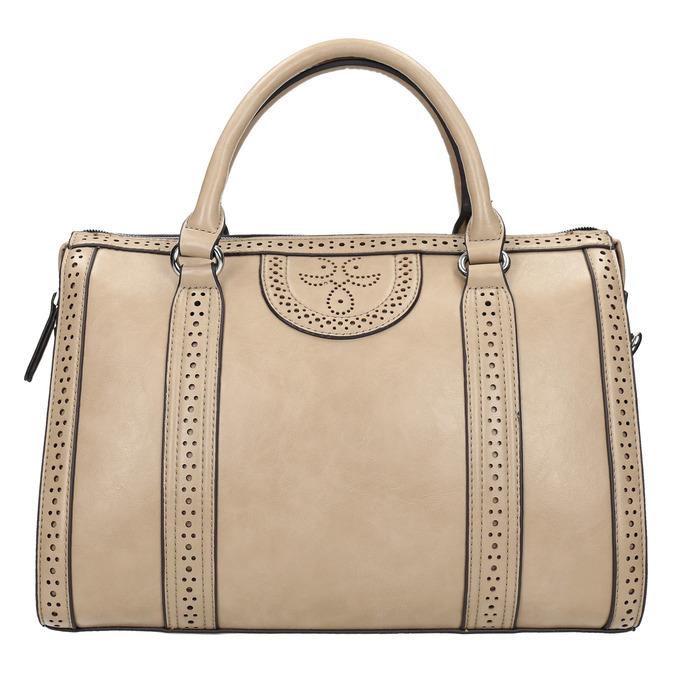 Dámská kabelka s perforací bata, béžová, 961-8868 - 26