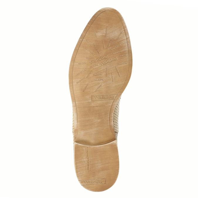 Kožené Chelsea boty s perforací bata, béžová, 596-3651 - 26