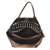 Perforovaná dámská kabelka bata, hnědá, 961-3274 - 15