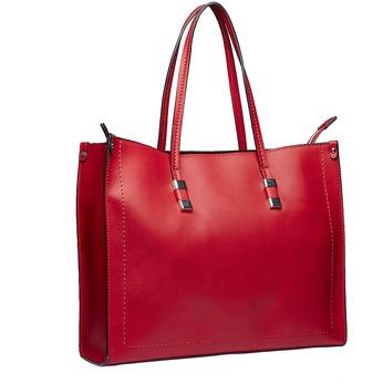 Hranatá kabelka v Shopper stylu bata, červená, 961-5736 - 13
