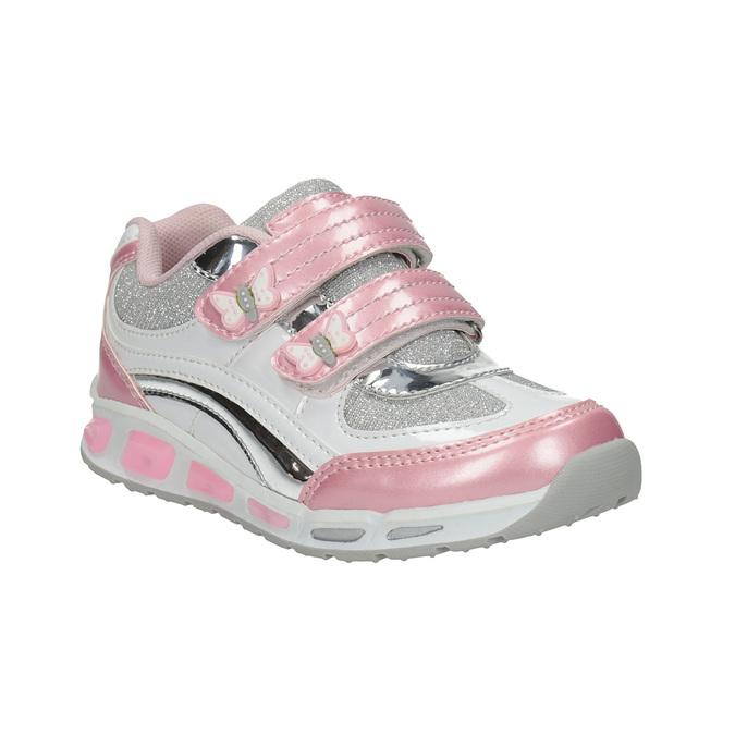 Dětské tenisky na suché zipy mini-b, růžová, 221-5603 - 13