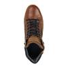 Kožené kotníčkové tenisky se zipem bata, hnědá, 844-3632 - 19