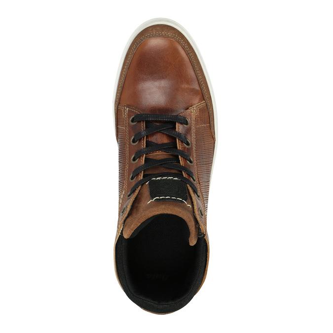 Kožené kotníčkové tenisky bata, hnědá, 844-3631 - 19