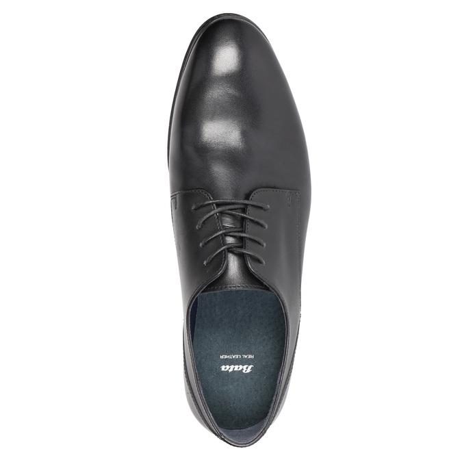 Pánské kožené polobotky černé bata, černá, 824-6813 - 19