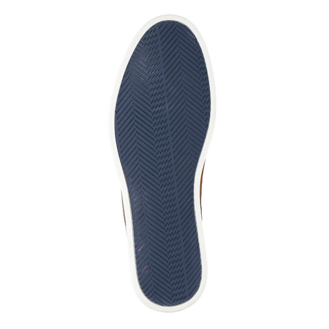 Ležérní kožené polobotky bata, modrá, 843-9623 - 26