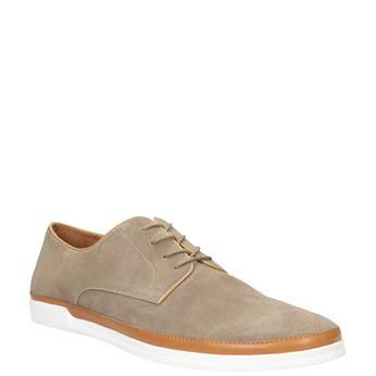 Ležérní kožené polobotky bata, béžová, 843-8623 - 13