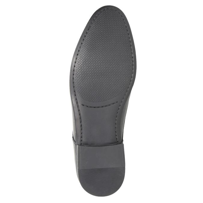 Pánské kožené polobotky černé bata, černá, 824-6813 - 26