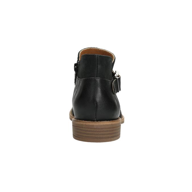 Kožená kotníčková obuv se sponou bata, černá, 596-6634 - 17