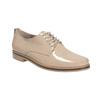 Krémové lakované polobotky bata, béžová, 2021-528-8634 - 13