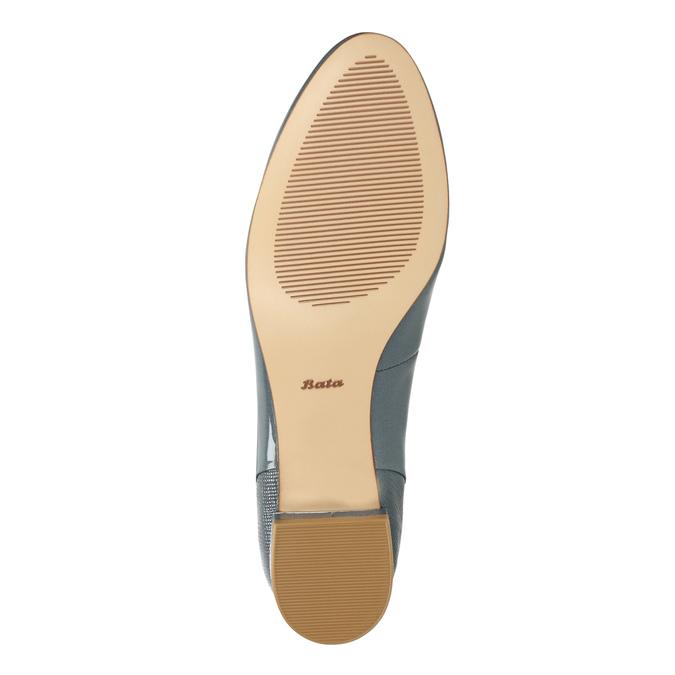 Kožená dámská obuv ve stylu Loafers bata, modrá, 518-9600 - 26