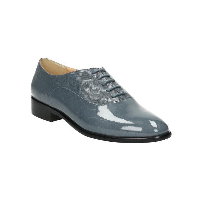 Kožené dámské polobotky bata, modrá, 2021-528-9633 - 13