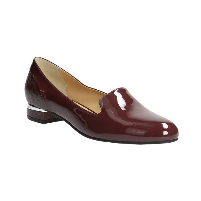 Lakované dámské Loafers bata, červená, 518-5600 - 13