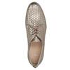 Kožené polobotky s motivem šupin bata, zlatá, 526-8627 - 19
