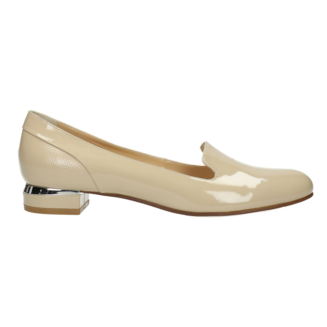 Lakované dámské Loafers bata, béžová, 518-8600 - 15