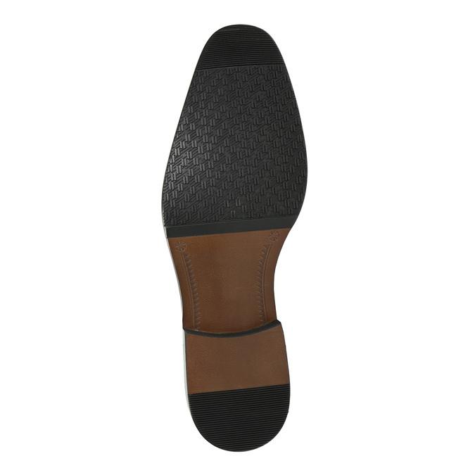 Pánské kožené polobotky černé bata, černá, 824-6818 - 26