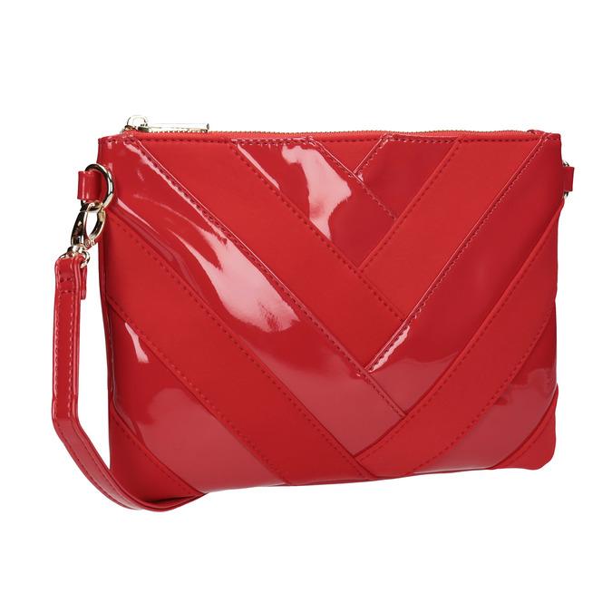 Dámská lakovaná Crossbody kabelka bata, červená, 961-5683 - 13