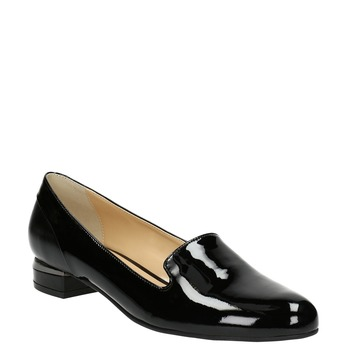 Lakované dámské Loafers bata, černá, 518-6600 - 13