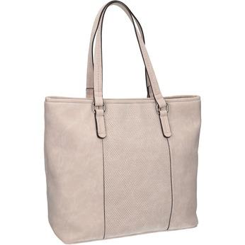 Růžová kabelka s perforovaným detailem bata, růžová, 961-5711 - 13