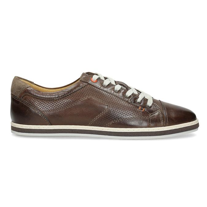 Kožené pánské tenisky bata, hnědá, 846-4617 - 19