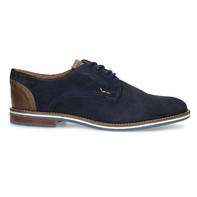Kožené polobotky s pruhovanou podešví bata, modrá, 823-9600 - 19