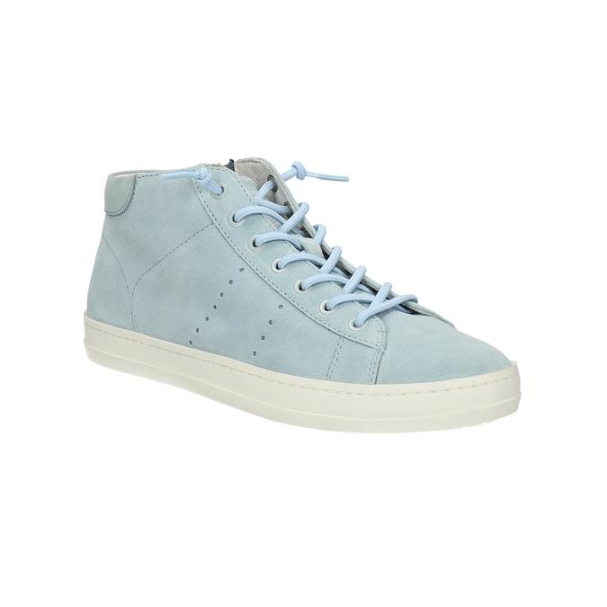 Dámské kožené tenisky ke kotníkům bata, modrá, 523-9602 - 13