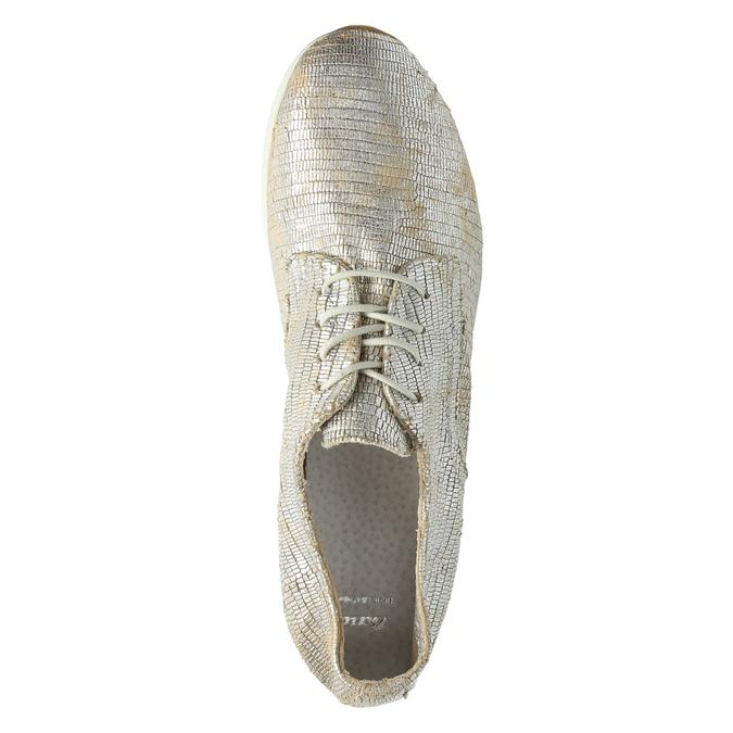 Zlaté kožené tenisky bata, stříbrná, 526-8633 - 19