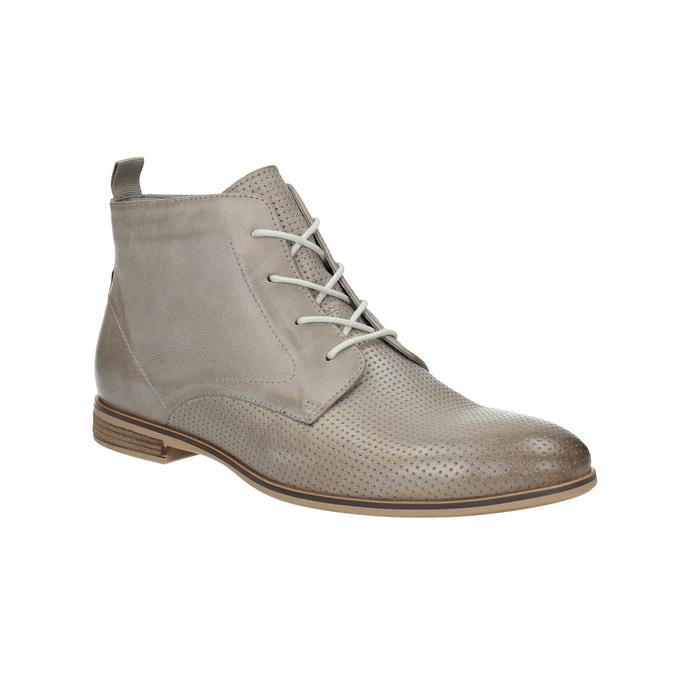 Kožená kotníčková obuv bata, hnědá, 596-2645 - 13