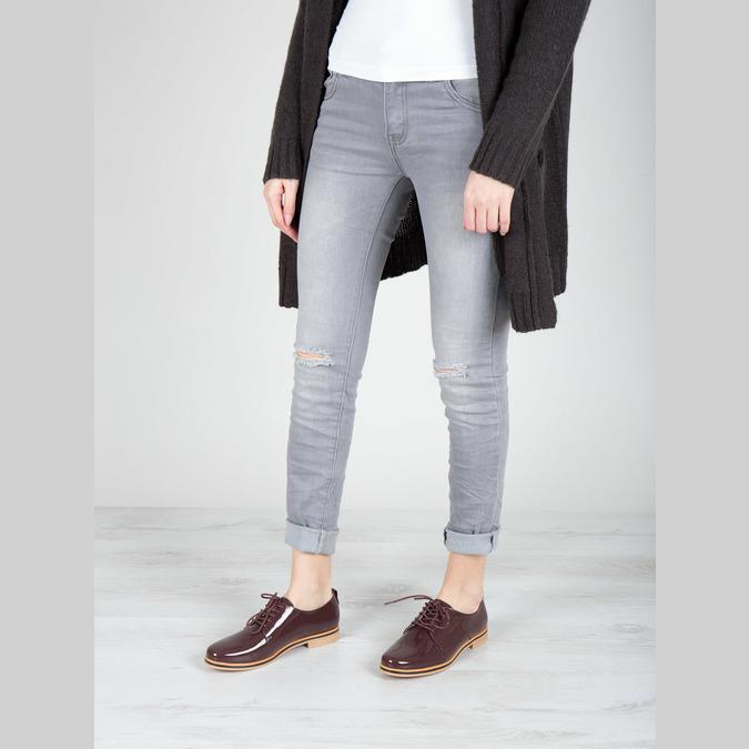 Lakované dámské polobotky bata, 2021-528-5634 - 18