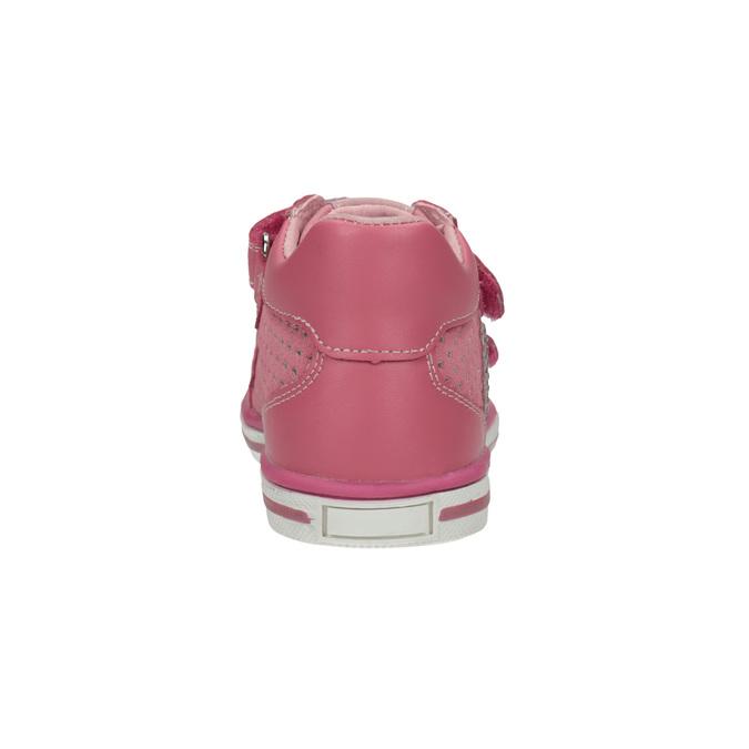 Dětské tenisky se suchými zipy bubblegummers, růžová, 126-5600 - 17