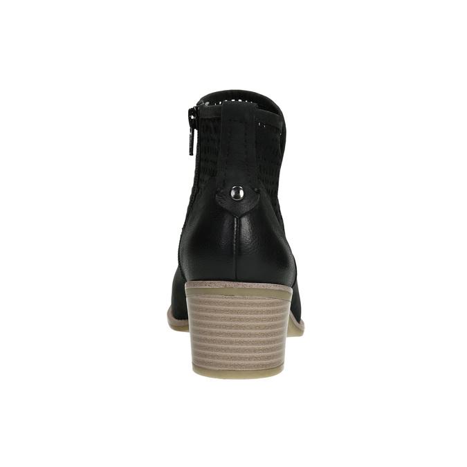 Kožené dámské jarní kozačky bata, černá, 696-6643 - 17