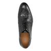 Kožené černé polobotky s Brogue zdobením bata, černá, 826-6795 - 19