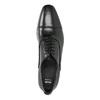 Černé kožené Oxford polobotky bata, černá, 824-6824 - 19