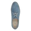 Modré kožené polobotky bata, modrá, 523-9600 - 19