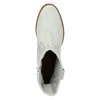 Kožené kotníčkové kozačky bata, šedá, 596-2653 - 19