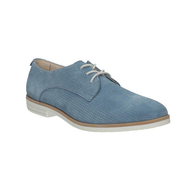 Modré kožené polobotky bata, modrá, 523-9600 - 13