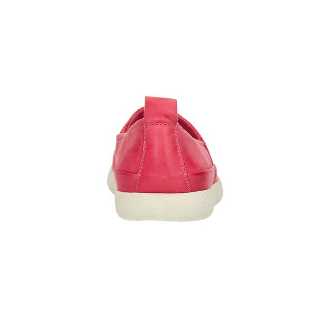 Kožená obuv s perforací bata-light, růžová, 516-5601 - 17