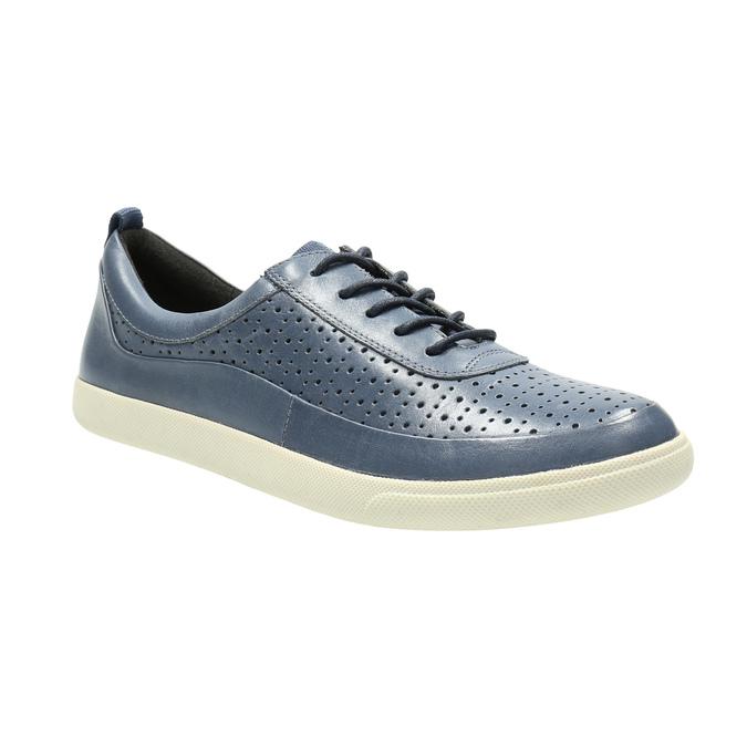 Dámské kožené tenisky modré bata, modrá, 526-9618 - 13