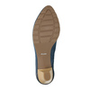 Dámské kožené lodičky bata, modrá, 626-9639 - 26