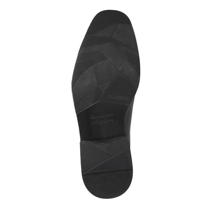 Pánské kožené polobotky bata, černá, 824-6839 - 26