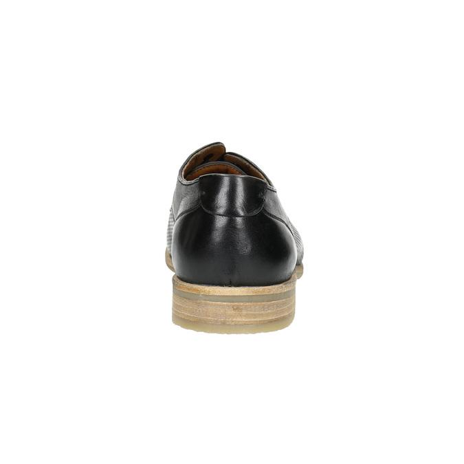 Černé kožené polobotky se světlou podešví bata, černá, 824-6807 - 17