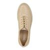 Dámské kožené tenisky s perforací bata, béžová, 526-8618 - 19