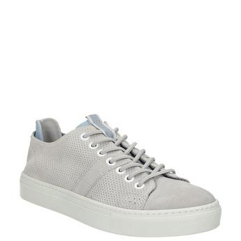 Dámské kožené tenisky bata, šedá, 523-2601 - 13