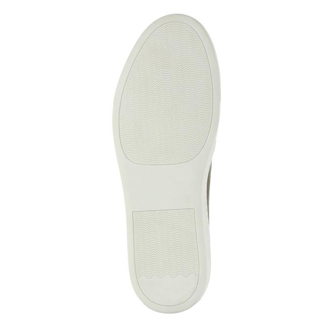 Dámská kožená Slip-on obuv bata, šedá, 516-2600 - 26