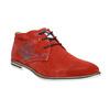 Červené kožené Chukka Boots bugatti, červená, 823-5608 - 13
