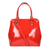 Červená lakovaná kabelka bata, červená, 961-5684 - 19