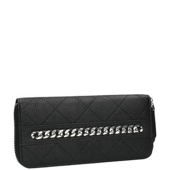 Peněženka s prošíváním a řetízkem bata, černá, 941-6146 - 13