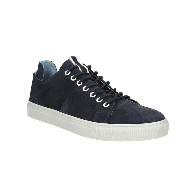 Kožené tenisky s perforací bata, modrá, 843-9621 - 13